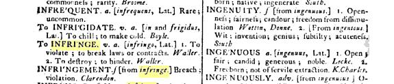 definition infringe 19 century